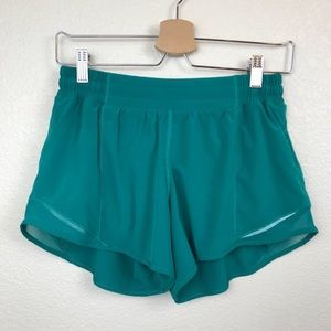 Lululemon Hottie got jasper green running shorts
